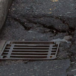 Roadside drain - stock image