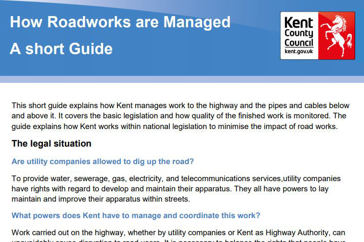 How roadworks are managed