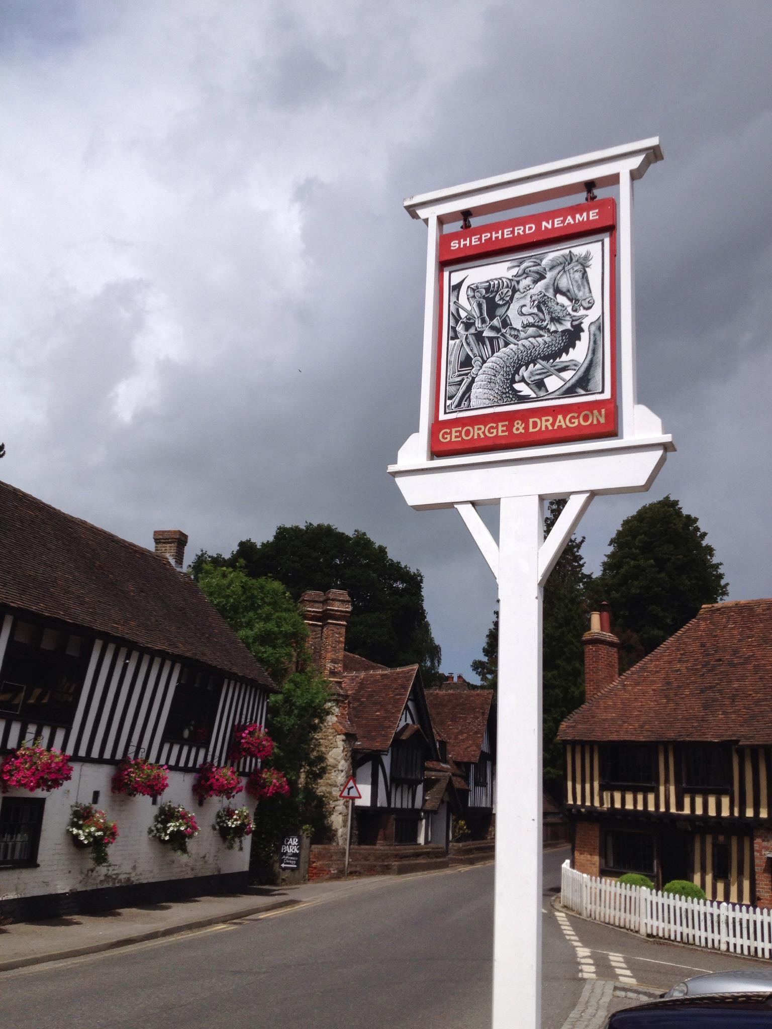 The George and Dragon pub sign