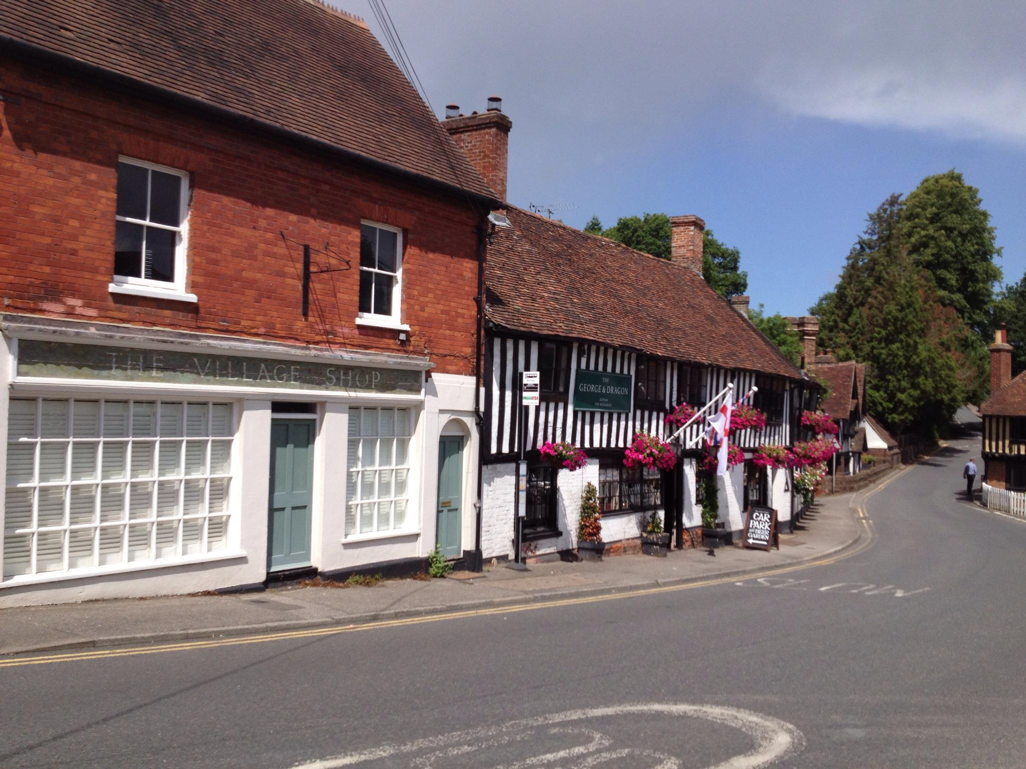George and Dragon, Ightham an The Village Shop