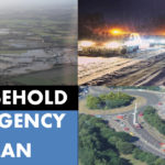 Household Emergency Plan front cover with three images of snow, floods and traffic