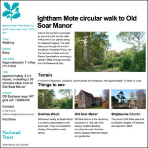 Ightham Motes circular walk to Old Soar Manor