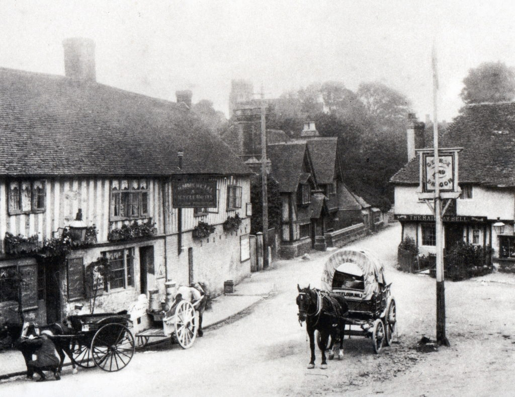 Ightham village centre historical picture