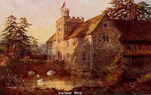 Painting of Ightham Mote
