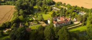 Ightham Mote aerial view