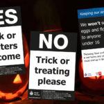 Halloween posters heading graphic