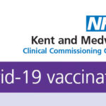 Kent and Medway Clinical Commissioning group logo and Covid-19 vaccination